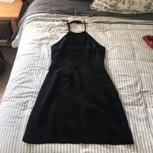 Banana Republic Black Halter Dress
